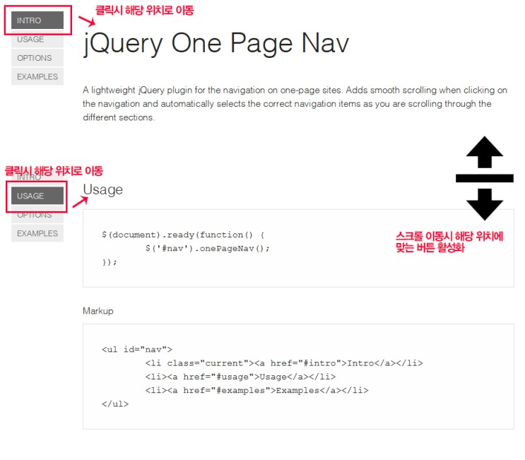 jQuery One Page Nav