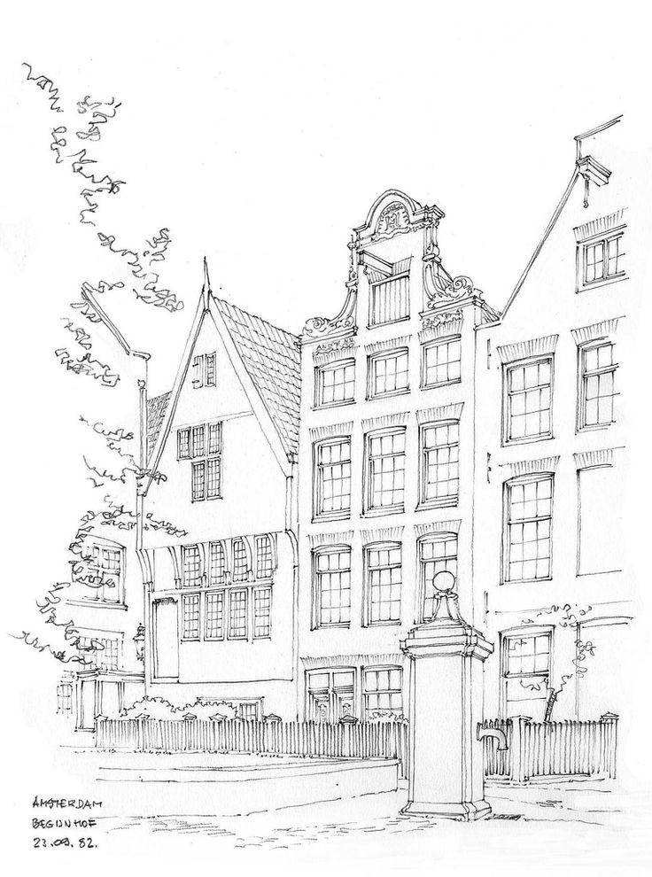 컬러링 도안어른을 위한 색칠공부 집 거리풍경 건축물
