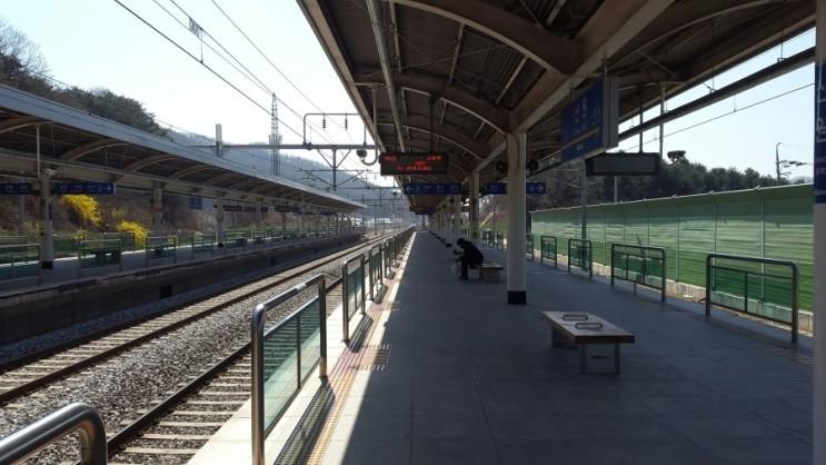 전철에서 바라본 남한강