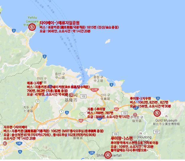 대만 예.스.지 2일차 관광계획짜기 (버스타고다니기!)