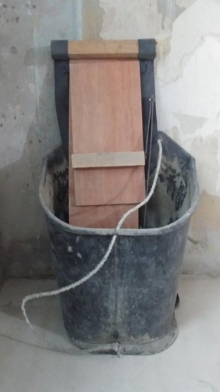 수직 장비 + 수평 인력 이동의 양중과 수직 + 수평 인력 이동시의 곰방