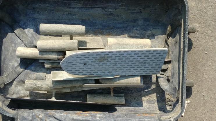 매우 다양한 미장공구 미장칼 흙손 쇠손 흙칼 이미지 뷰
