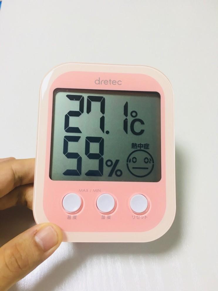 신생아 온습도계 ::: 드레텍 온습도계 후기 (아기적정온도)