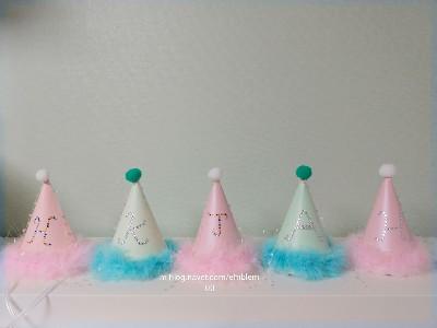 아이를 위해 직접 만든 파티(고깔)모자