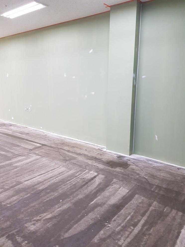 [브리스틀] 향남시 피트니스 센터 에폭시 코팅 및 빈티지 스타코 페인트 시공!