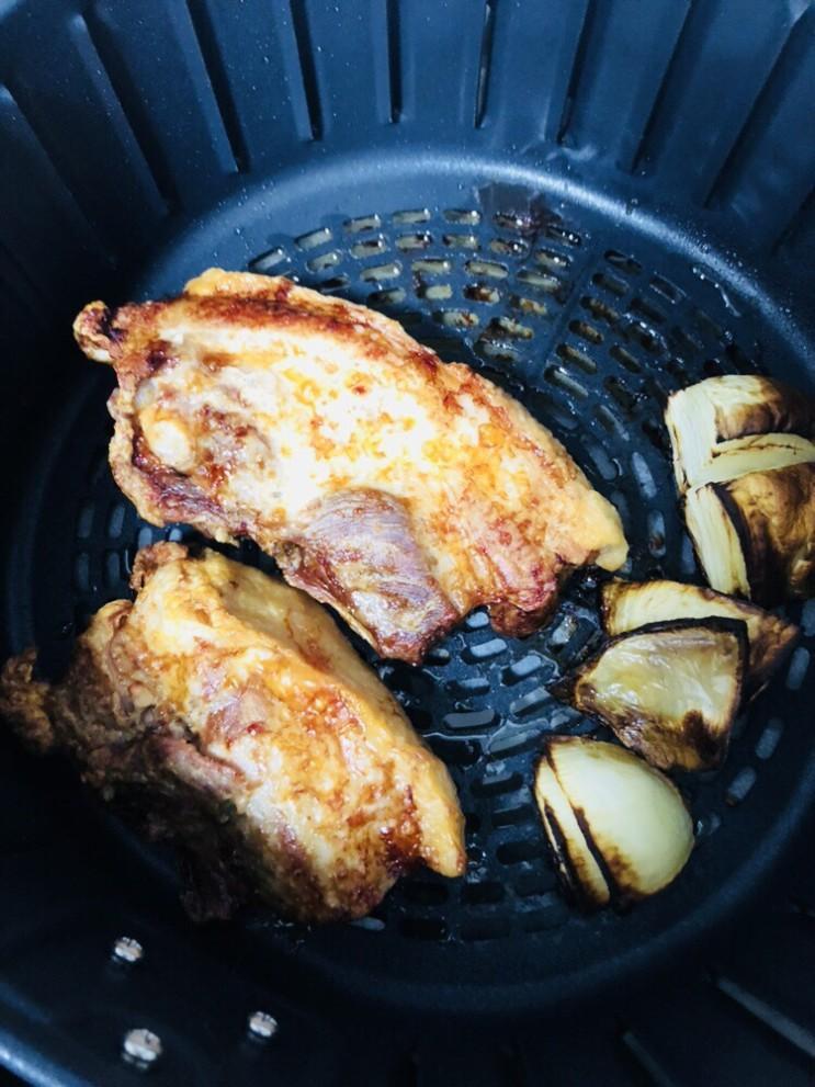에어프라이어로 통삼겹살 맛있게 굽기 with 이마트 일렉트로맨 에어프라이어 5.5L (AFG-2801)