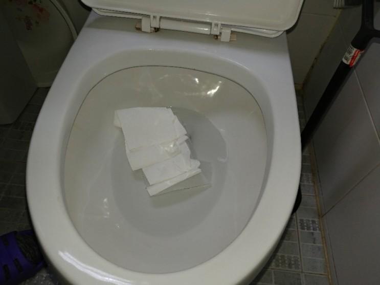 휴지 때문에 막힌 화장실 변기, 순식간에 뚫음! 인천 만수동