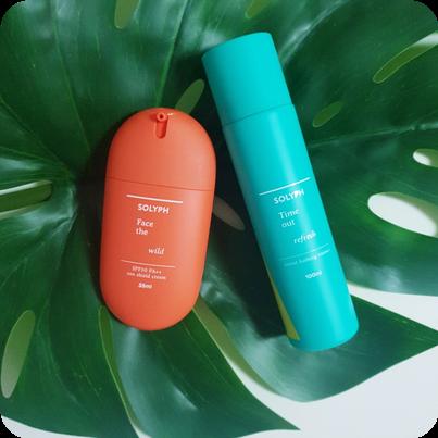 SOLYPH(솔잎) 포레스트베딩 에센스미스트와 페이스더와일드 썬실드크림으로 촉촉한 피부만들기!