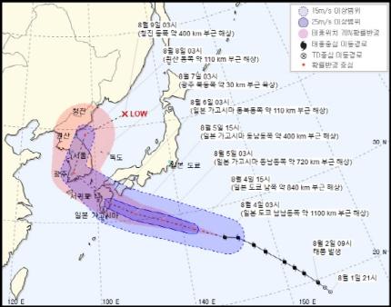 8호 태풍 `프란시스코`, 6일부터 한반도 영향…광주 지날듯