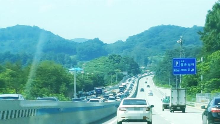 현재 영동고속도로 원주-평창 구간 교통상황 여름휴가