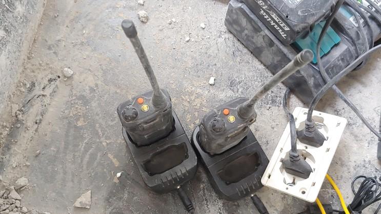 다양한 용도 업무용 무전기 공사현장 건설현장 무전기