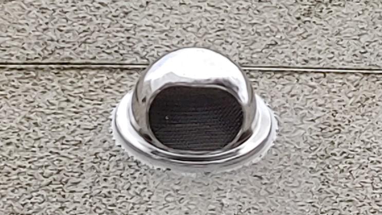 공기구멍 숨구멍 건물 외벽 마감시 송풍, 환풍 후드 캡