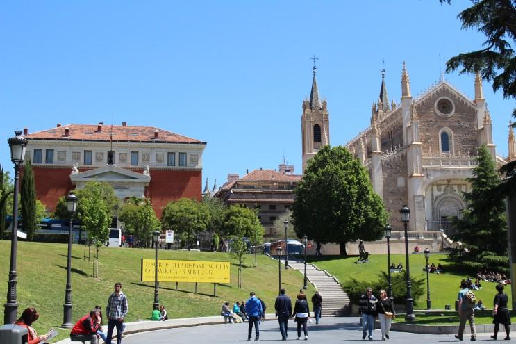 프라도미술관 주변과 성 예로니모 성당