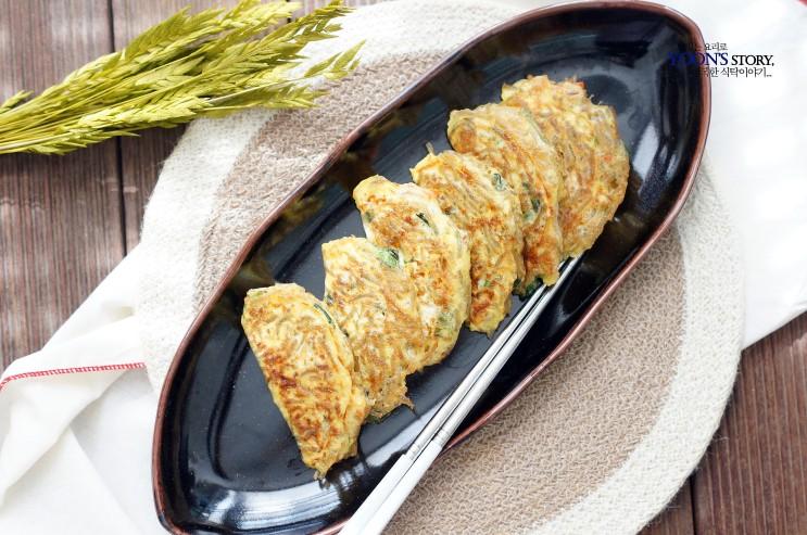 달걀 만두 만들기 @ 남은 잡채 활용요리...