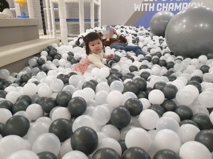 청주 지웰시티 챔피언키즈카페ㅜ 17개월 아기에겐 재미없는 곳