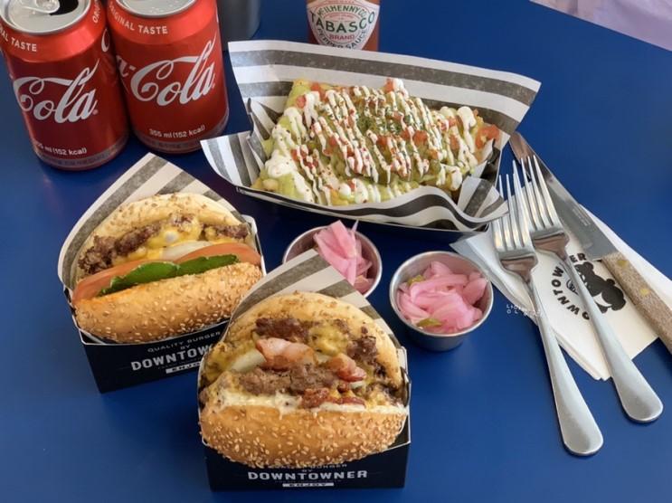 # [서울 잠실 맛집] 송리단길 수제버거 다운타우너 : 치즈버거, 더블트러플 버거