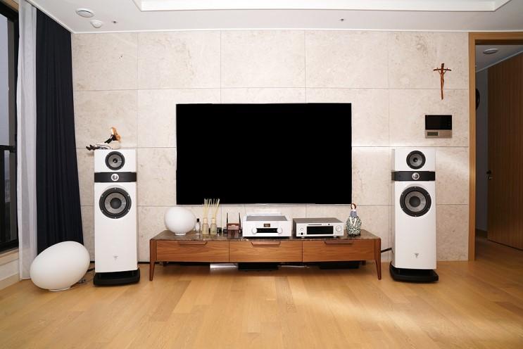 포칼 스칼라 유토피아 EVO + 골드문트 텔로스 590 + 오렌더 A30설치기 하이엔드 하이파이 오디오 시스템