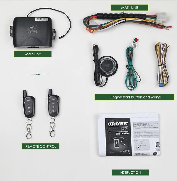 TG 원격 시동 스타트 버튼 스마트폰 제어 리모컨 설치방법 DIY 락 폴딩 설치, 타임 모듈 사용방법