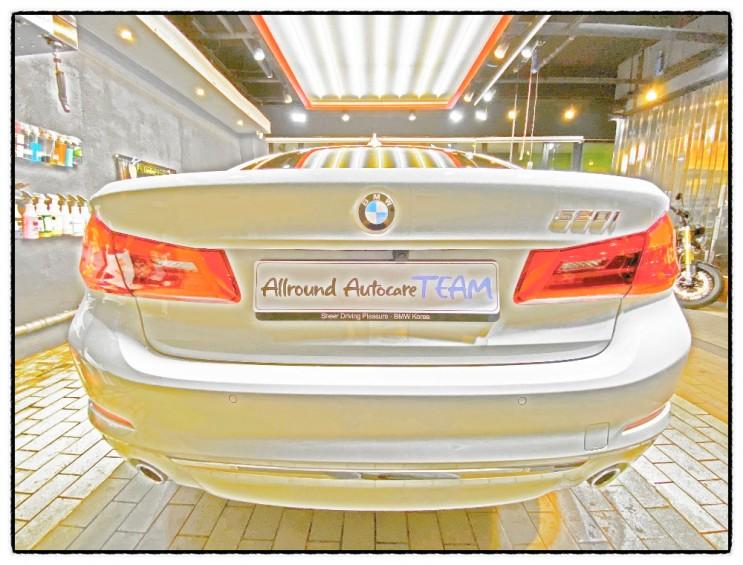 BMW 520i 럭셔리(LuXuRY) 앞 범퍼 사고 교환 후 유리막 코팅 시공 By 올라운드오토케어 디테일러 정경수