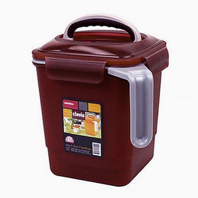 [포리빙]클라비아 음식물 쓰레기통(3리터) /잠금장치,손잡이 (7,900원)