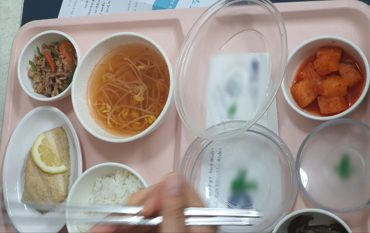 신부전 음식 전문업체 식단 예시 005 가자미구이와 레몬조각