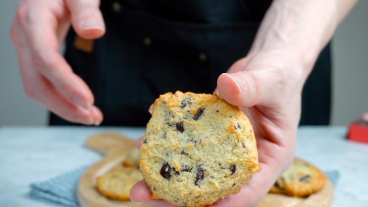 유지어터의 건강한 초코칩 쿠키 - 무설탕, 저탄수, 홈베이킹 [레시피 #12] - 영상포함