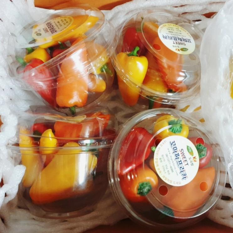 비타민 섭취하고 면역력 키우기(꼬마 파프리카,짭짤이,참외)
