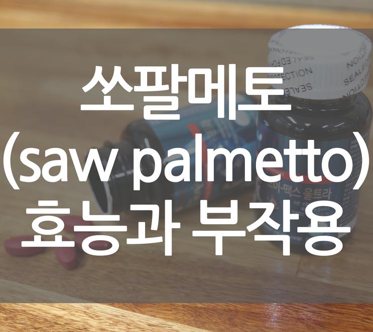쏘팔메토(saw palmetto) 효능과 부작용 및 탈모에 효과적
