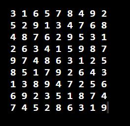 스도쿠 풀이 프로그램 - Sudoku Solver - Backtracking program (Python2 Source Code)