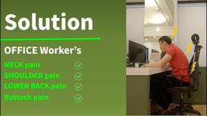 사무직 어깨 목 허리 엉덩이 통증 / 하루에 몇시간 앉아있으세요? / 사무직 스트레칭