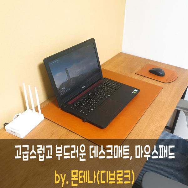 몬테나 가죽 데스크매트 & 마우스패드 [디브로크 이웃님의 선물 ]