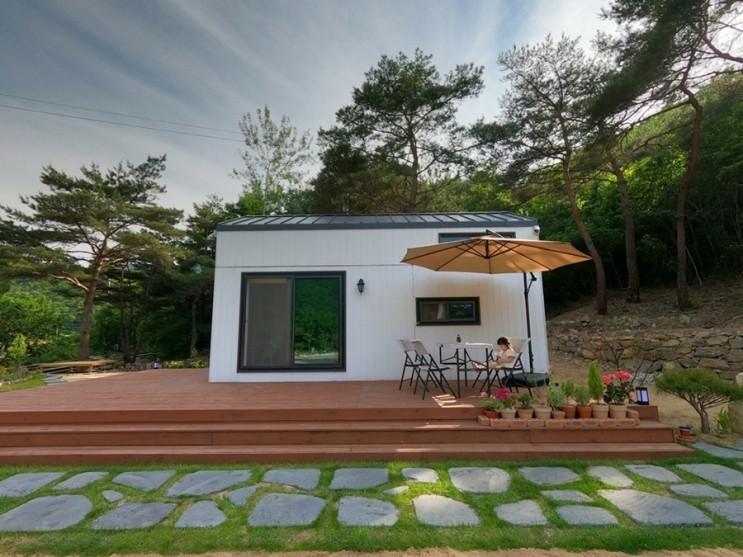 문경에 설치한 6평 이동식 목조주택
