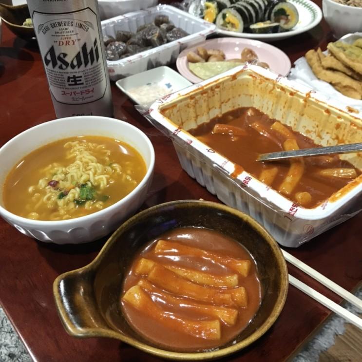 주말저녁 맛있는 배달음식 쌍용동맛집 신전떡볶이 / 천안식후감