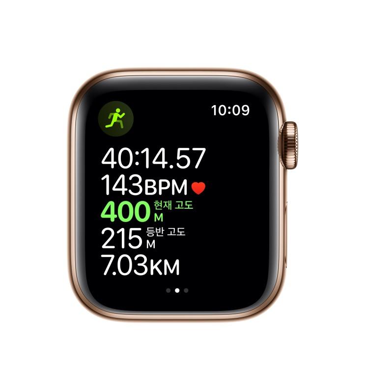 지금 BEST정보 애플워치5 GPS 셀룰러 40mm 스포츠밴드 스테인리스스틸 케이스! 쇼핑정보