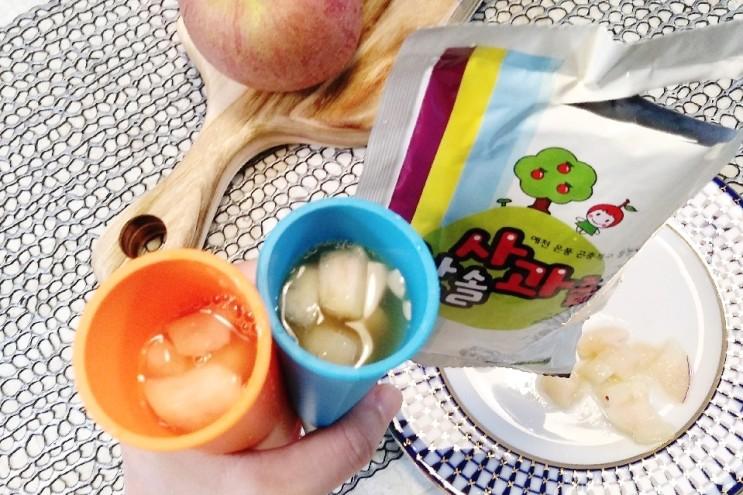 한솔 사과농장 생사과 즙, 여름 어린이 음료로 최고예요~!!