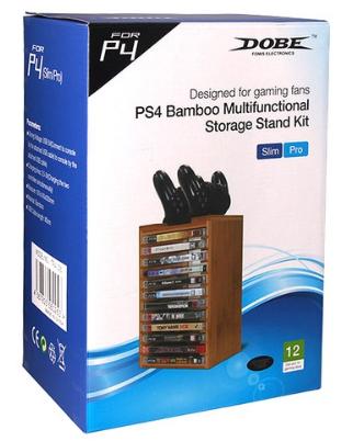 DOBE PS4 대나무 게임타이틀 수납장