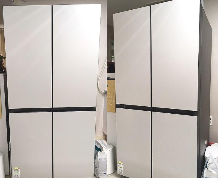 4도어 비스포크 냉장고 우여곡절 실사용 후기 : 코타화이트(RF85R9141AP)