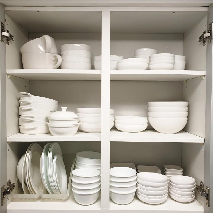 [미니멀라이프] 주방 그릇장 정리