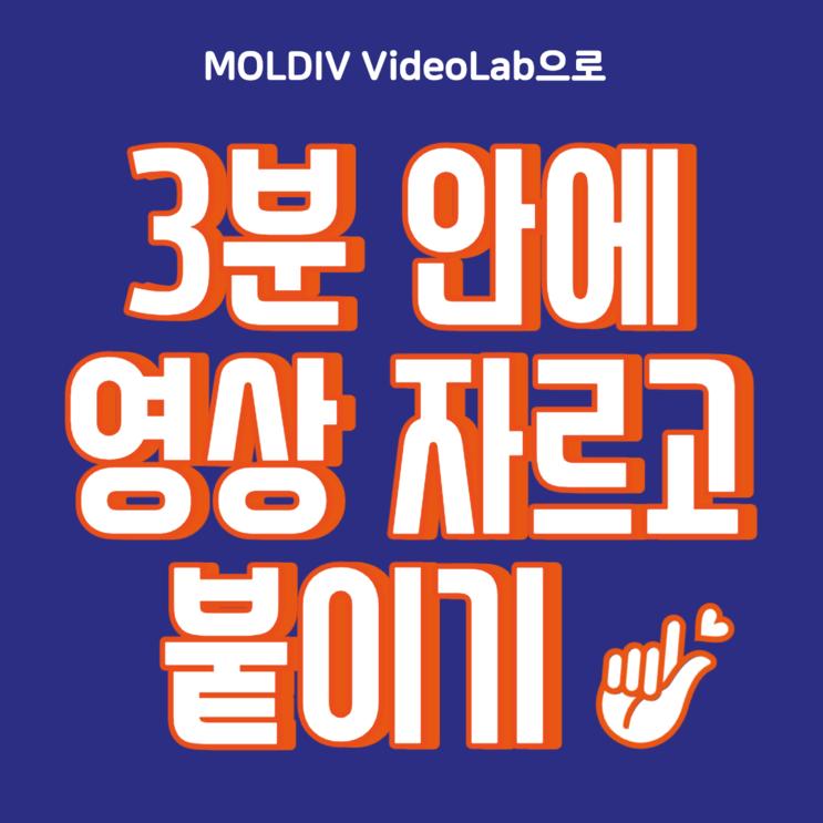 유튜브 영상 편집 기초, 영상 자르고 붙이기 몰디브 비디오랩 어플로 초간단하게!