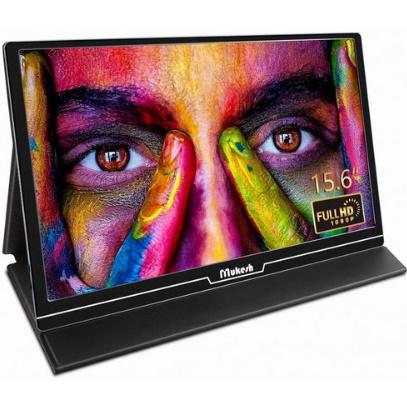 Mukesh 휴대용 모니터 – 업그레이드 된 15.6 인치 초 컴퓨터 디스플레이