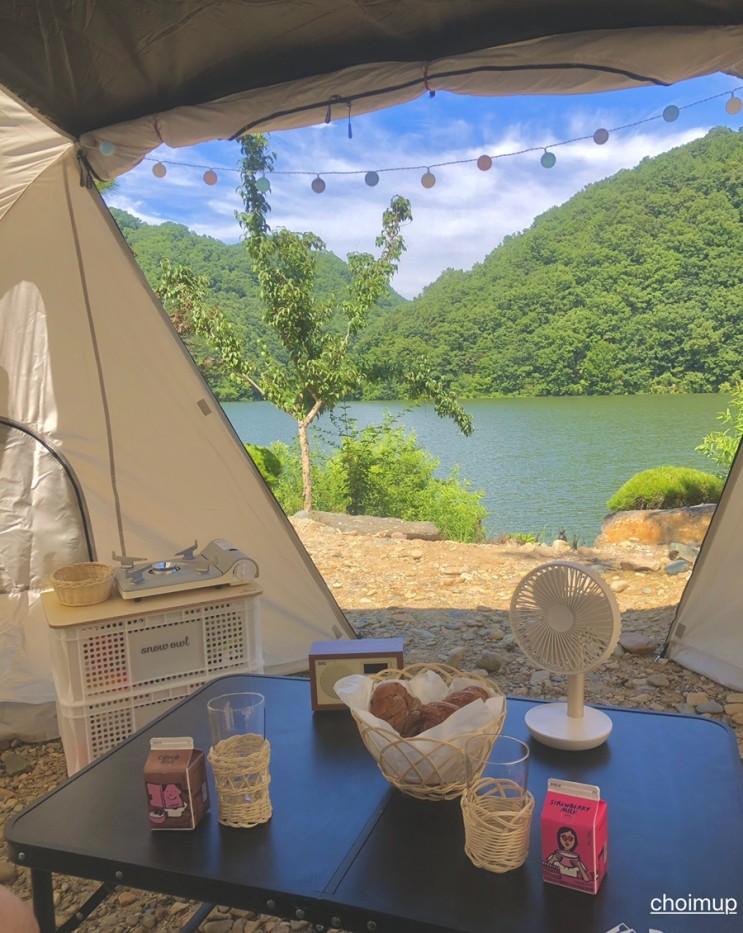 물 좋고 경치 좋고 공기 좋은 캠핑장소 충북 옥천 팜랜드에 감성 캠핑 다녀왔어요!