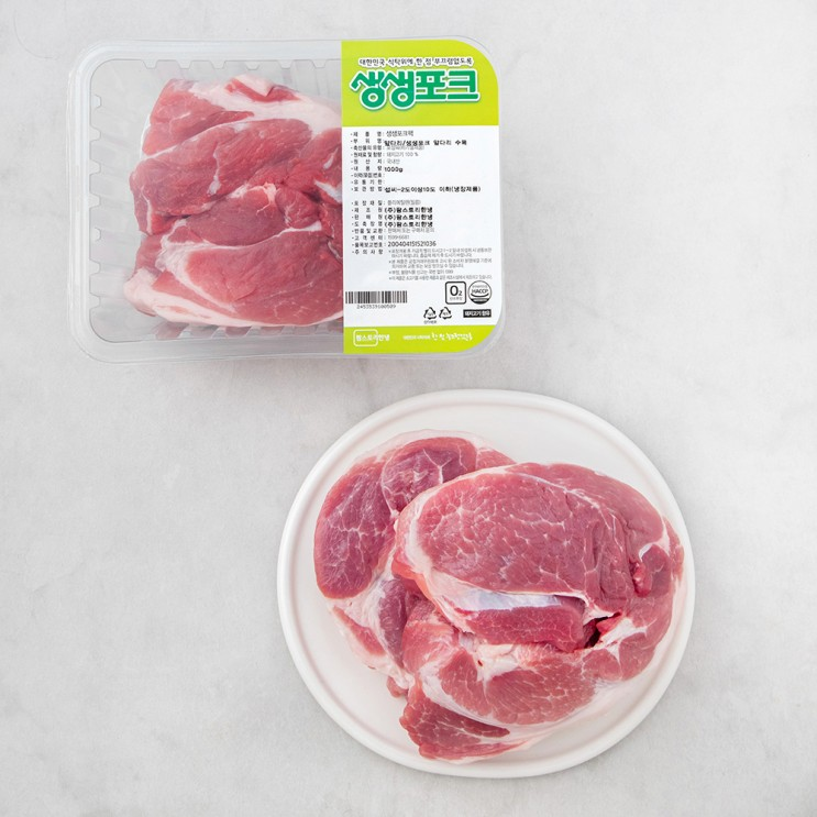 생생포크 앞다리살 수육용 (냉장), 1000g, 1개