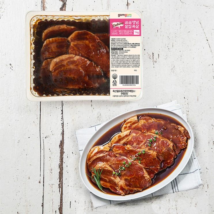 곰곰 양념 칼집 목살 (냉장), 1kg, 1개