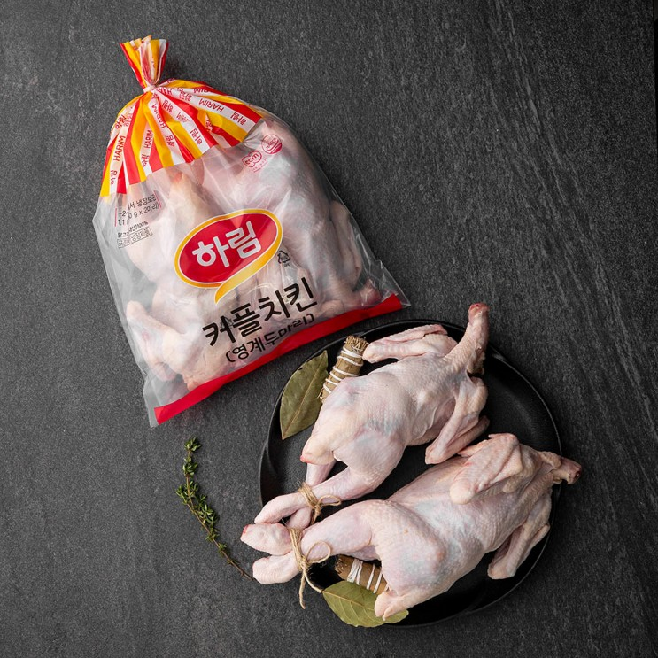 하림 커플치킨 통닭 백숙용 (냉장), 550g, 2개