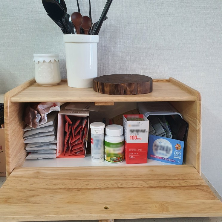 아일랜드 식탁 정리, 모던 하우스 브레드 박스로 깔끔하게!