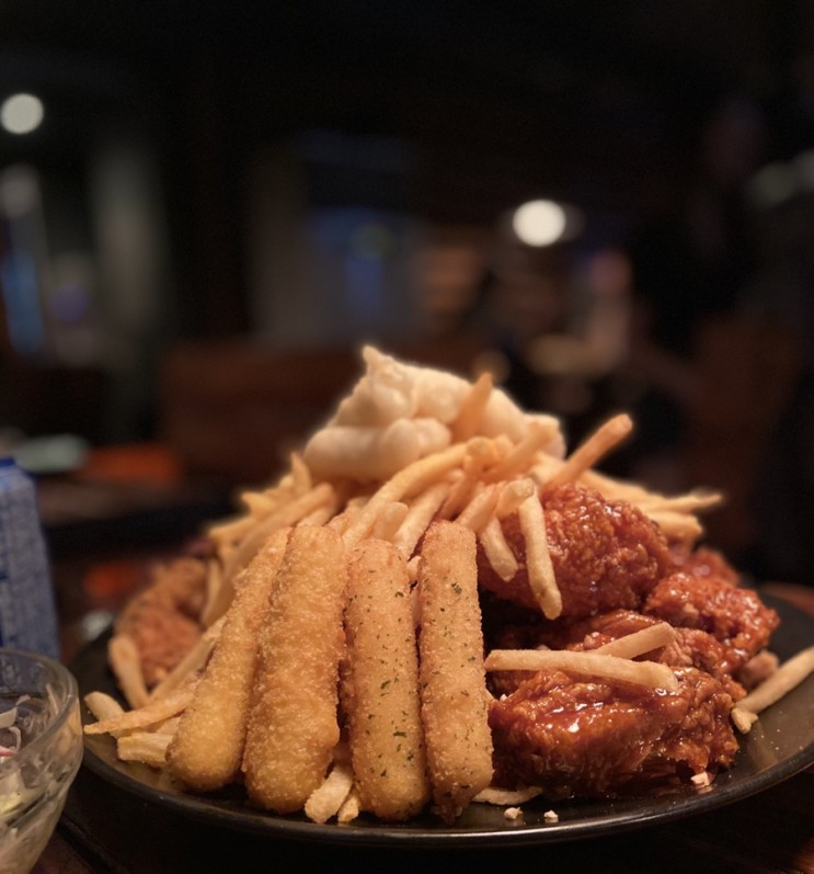 [홍대치킨]아웃닭, 맛있고 많다