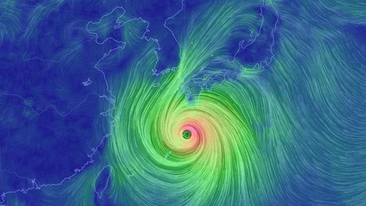 태풍의 위치를 알아보자.