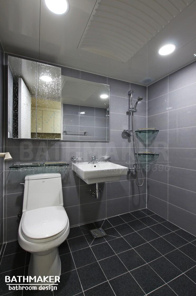 구리욕실인테리어) 무게감 있는 인창주공2단지아파트 욕실리모델링