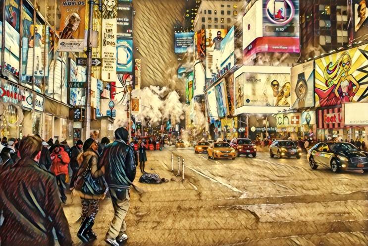 1999.10. 뉴욕커들과 거리의 상점들. 남인우,남이,교수 이력서,화가,그림,미술,대학교수,일러스트,이미지,추천,바탕화면,배경화면,화백,학자,연구인,교육인,작가,연구학술인,아이폰,겔럭시,서양화,여행,풍경,고화질,사진,화가이름,유명한화가,국내화가,자연,도시