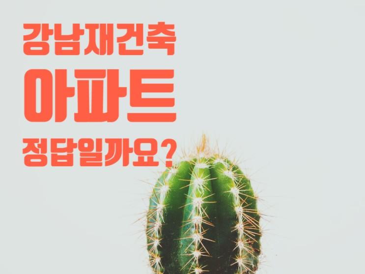 강남 재건축 아파트 결국 그게 정답일까요?